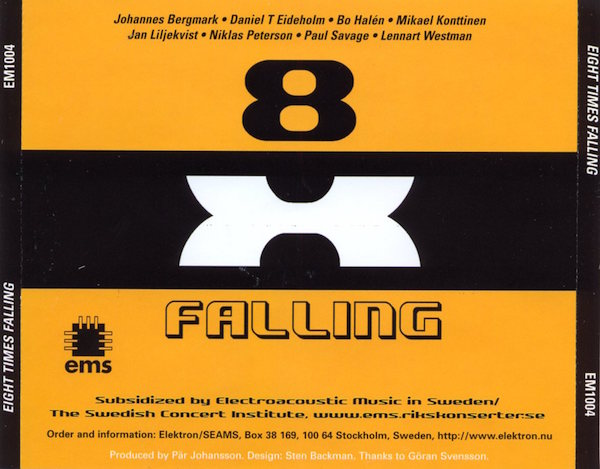 Eight Times Falling, cd