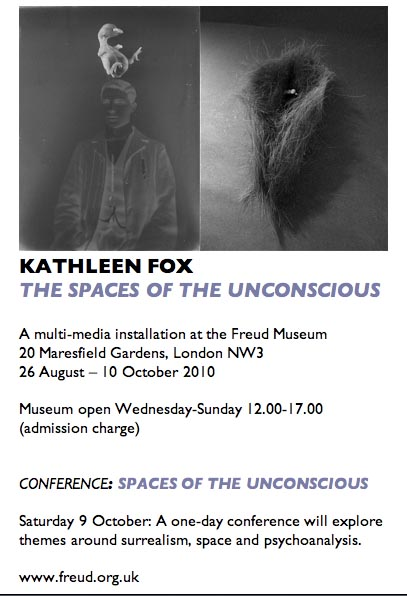 Preliminary flyer Freud Museum Kathy Fox