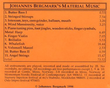 Material Music, cd cover