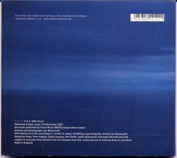 Ringtones back cover