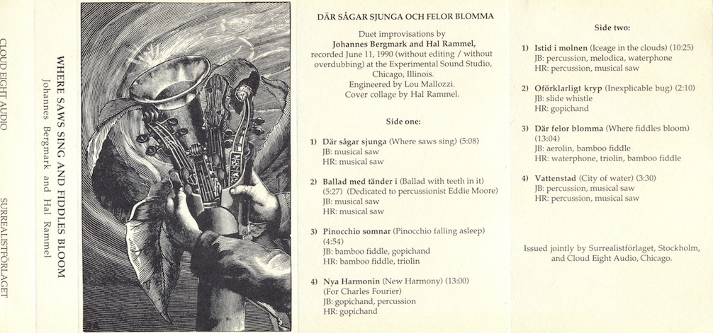 Where Saws Sing and Fiddles Bloom - Där sågar sjunga och felor blomma, cassette cover
