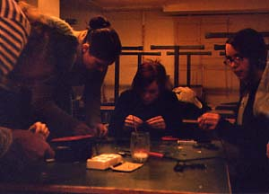 [Piezo Contact Mike soldering at a workshop in Haparanda, Sweden.]