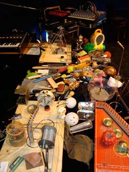 Johannes Bergmark's musical instrument setup January, 2009